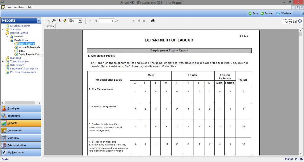 Employment Equity Form